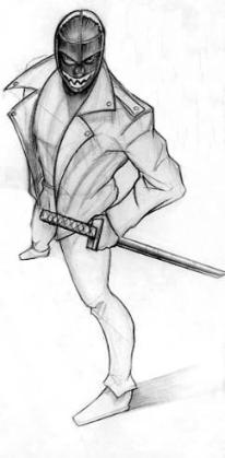 Lucha Ninja Concept Sketch
