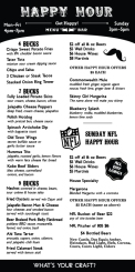 Happy Hour Menu for Old Town Tavern